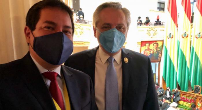 """Candidato presidencial de Ecuador afirmó que Alberto Fernández le garantizó """"más de 4 millones de vacunas"""""""