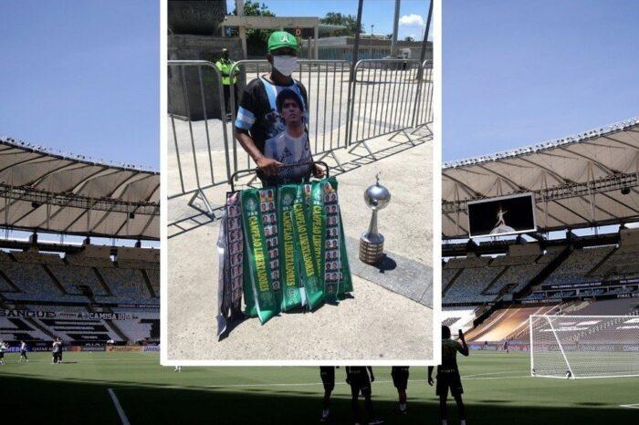 Maradona presente en la final de la Libertadores