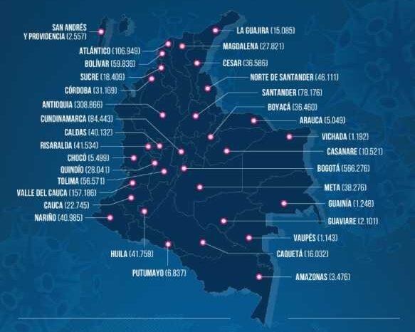 Colombia agrega 398 muertes por coronavirus, la segunda cifra diaria más alta