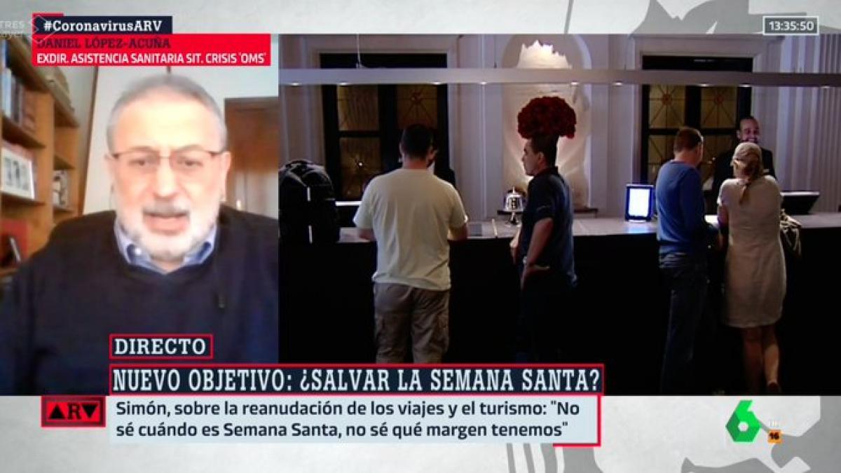 """Rapapolvo en directo de un experto de la OMS sobre la intención de """"salvar"""" la Semana Santa en España"""