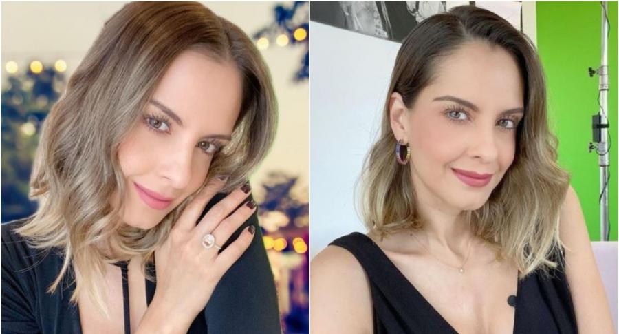 """Máscara con la que Laura Acuña se protege del COVID-19 y no """"daña el maquillaje"""""""