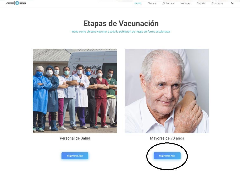 Mayores de 70: el paso a paso vía internet para recibir la vacuna contra el coronavirus