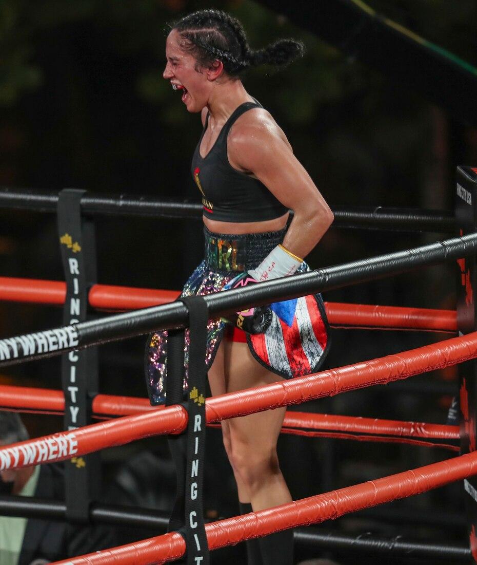 Con el triunfo, la boricua sumó la faja de la Organización Internacional de Boxeo a su colección el jueves en el Viejo San Juan.