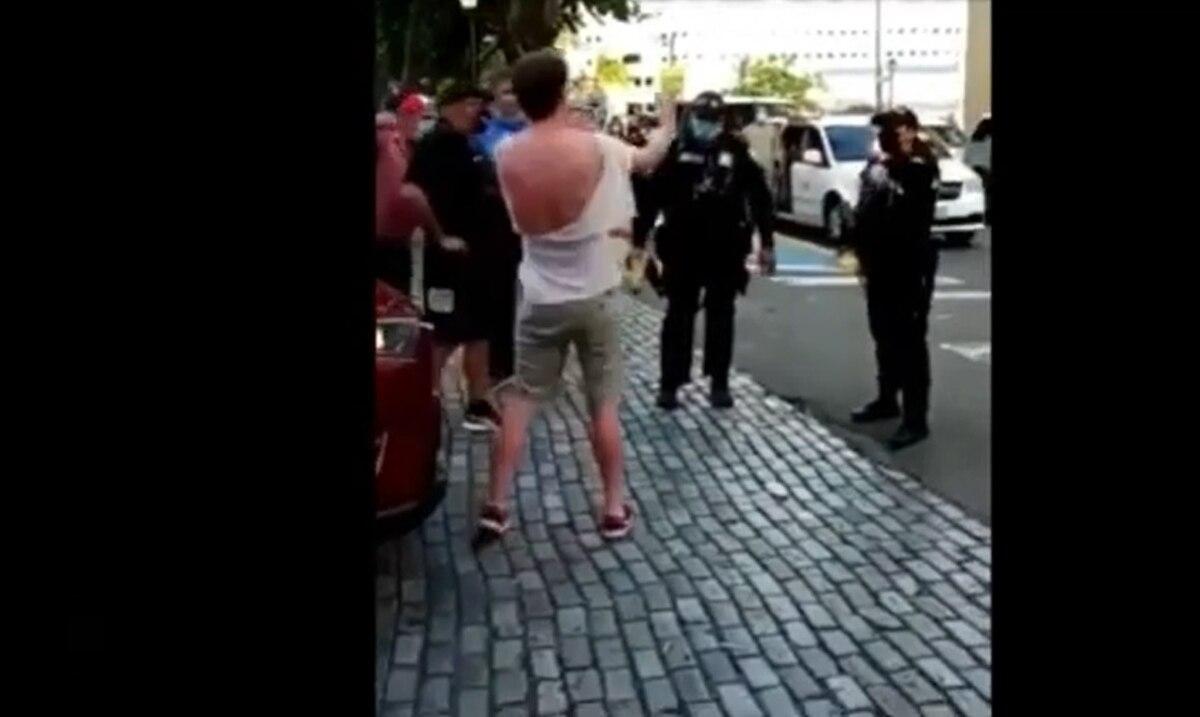 "La Policía Municipal de San Juan arresta usando un ""taser"" a un turista"