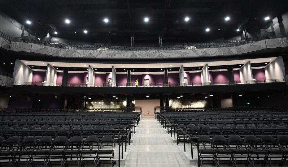 La distribución del espacio permitirá, según la administración del complejo, brindar una acústica excelente durante los eventos.