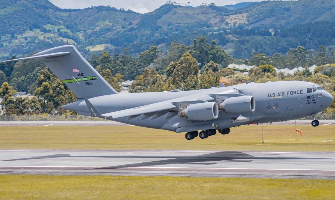 ¿Por qué aterrizaron en Colombia cuatro aviones militares estadounidenses?