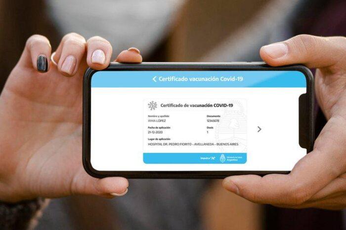 El Gobierno lanzó un pasaporte sanitario para los vacunados contra el coronavirus