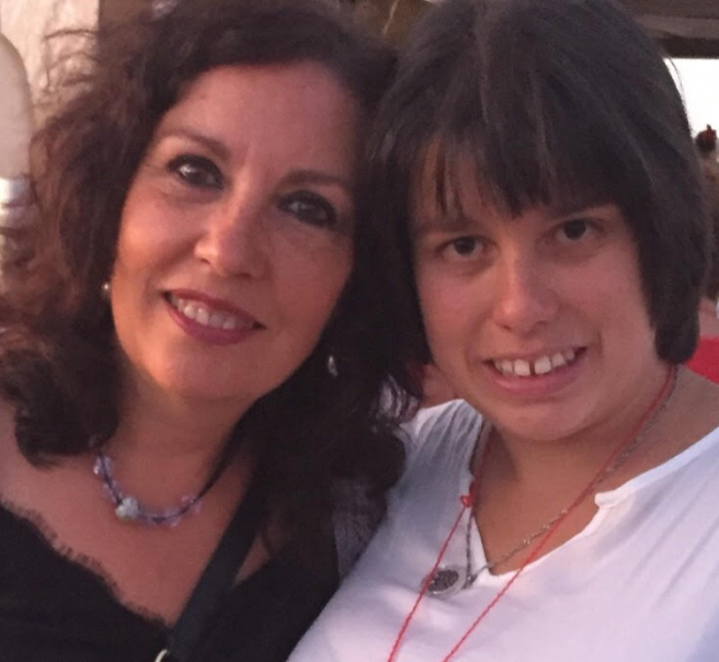 Pilar junto a su hija Irene.